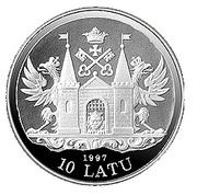 10 Latu (18th Century Riga) – obverse