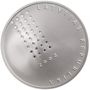 1 Lats (National Library of Latvia) – obverse