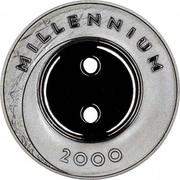 1 Lats (Millennium) – reverse