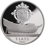 1 Lats (Courland) – obverse