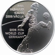 1 Lats (FIFA World Cup 2006) – reverse