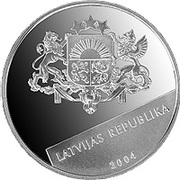 1 Lats (Latvia-EU) – obverse