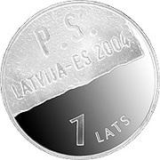 1 Lats (Latvia-EU) – reverse