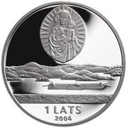 1 Lats (Latgale) – obverse