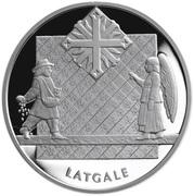 1 Lats (Latgale) – reverse