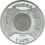 1 Lats (Valmiera) – obverse