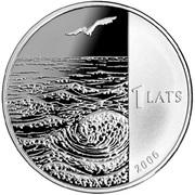1 Lats (Krisjanis Valdemars) – obverse