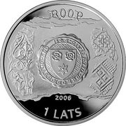 1 Lats (Straupe) – obverse