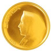 20 Lati (Coin of Latvia) – obverse