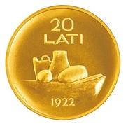 20 Lati (Coin of Latvia) – reverse