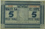 5 Rubļi – obverse