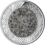 1 Lats (Stone coin) – reverse