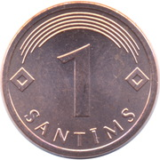 1 Santims – reverse