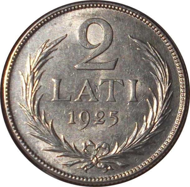 Latvijas republika 2 lati 1925 пятьсот гривень