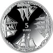 5 Euro (Ainazi Nautical School) -  obverse
