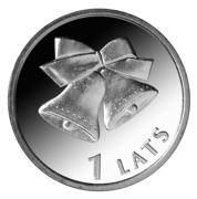 1 Lats (Christmas bells) – reverse