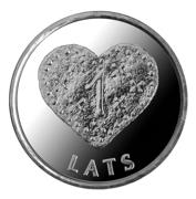 1 Lats (Gingerbread heart) -  reverse