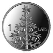 1 Lats (Christmas tree) -  reverse