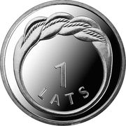 1 Lats (Namejs ring) -  reverse