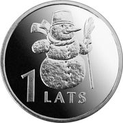 1 Lats (Snowman) -  reverse
