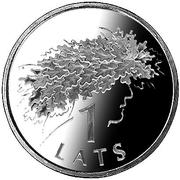 1 Lats (Ligo Wreath) – reverse