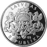 1 Lats (Rooster of St. Peter's Church) -  obverse