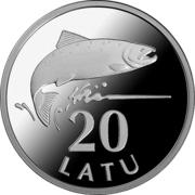 20 Latu (Silver Salmon) – reverse