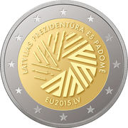 2 Euro (Latvian Presidency of the Council of the EU) -  obverse