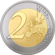 2 Euro (Latvian Presidency of the Council of the EU) -  reverse