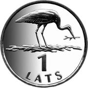 1 Lats (Stork) – reverse