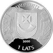 1 Lats (Ventspils) – obverse