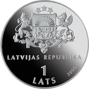 1 Lats (For the Children of the World) – obverse
