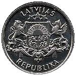 2 Lati (Proclamation of the Republic of Latvia) -  obverse