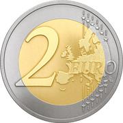 2 Euro (Black Stork) -  reverse