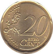 20 Euro Cent -  reverse