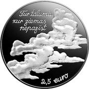 2½ Euro (Eduards Veidenbaums (coin B)) -  obverse