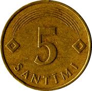 5 Santimi -  reverse