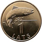 1 Lats (Salmon) – reverse