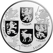 5 Euro (Coats of Arms Coin) -  obverse
