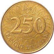 250 Līrah / Livres (Cu-Al thicker type) -  reverse