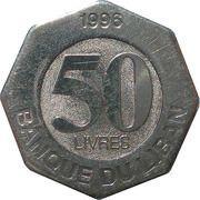 50 Līrah / Livres -  reverse