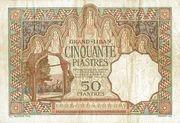 50 Piastres – reverse