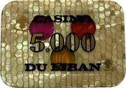 5000 Livres - Casino Du Liban – reverse