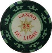 25 Livres - Casino Du Liban (Poker Chip) – obverse