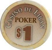 1 Dollar - Casino Du Liban (Poker Chip) – reverse