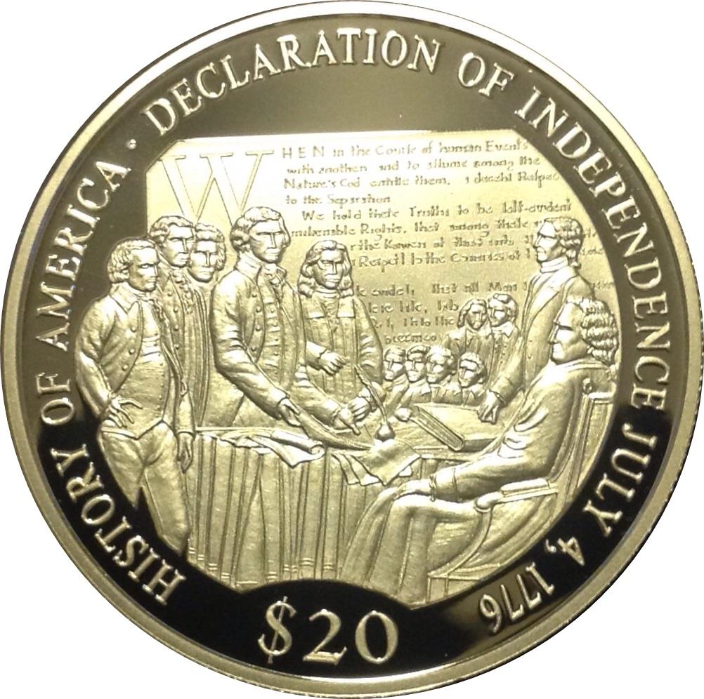 20 Dollars Declaration Of Independence Liberia Numista