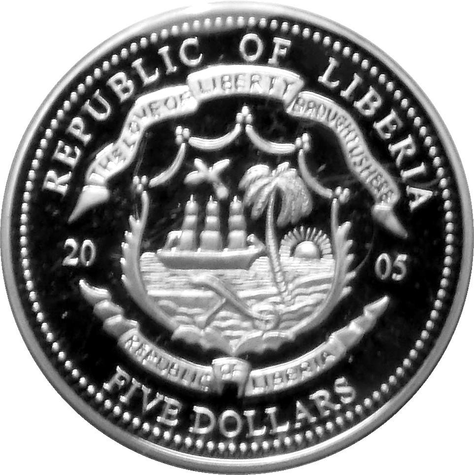 5 Dollars John Paul Ii Liberia