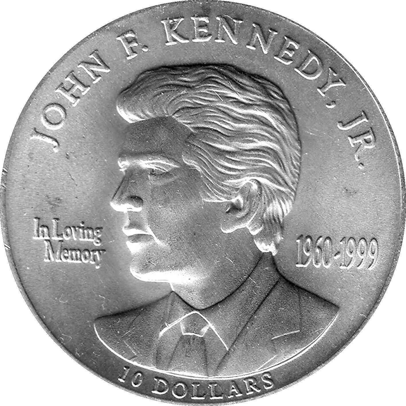 10 Dollars John F Kennedy Jr Liberia Numista