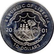 10 Dollars (Foundation of Liberia - 1847) -  obverse