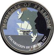 10 Dollars (Foundation of Liberia - 1847) -  reverse